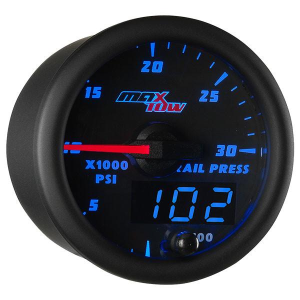 Black & Blue MaxTow 30,000 PSI Fuel Rail Pressure Gauge