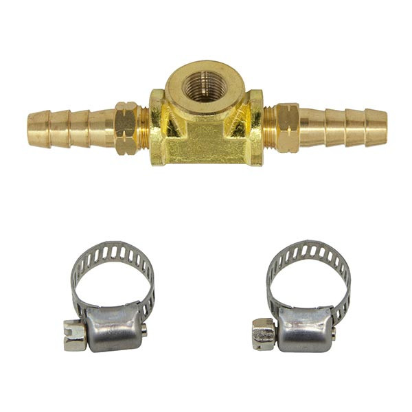 GlowShift 8mm Fuel Line Fuel Pressure T-Fitting Adapter