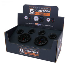 Tinted 7 Color Custom Dashboard Gauge Set Packaging