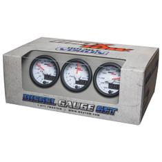 White & Blue MaxTow 3 Gauge Diesel Set