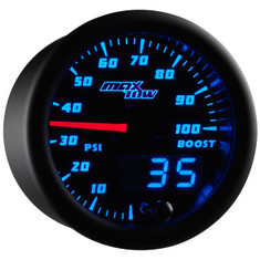 Black & Blue MaxTow 100 PSI Boost Gauge
