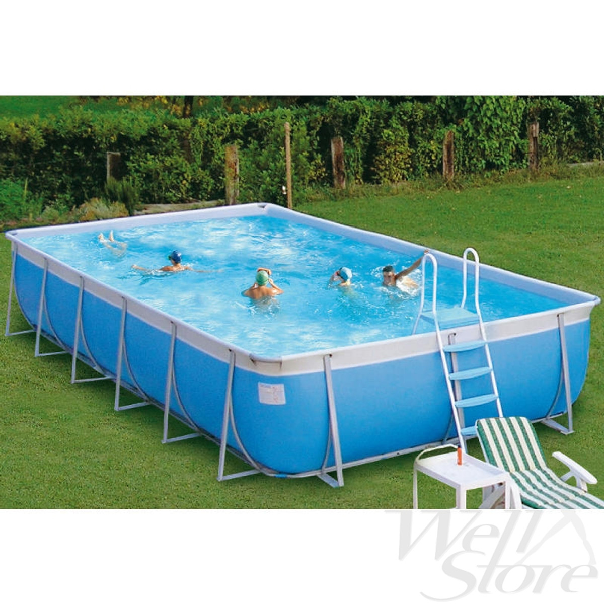 Aboveground portable swimming pool for school or for Portable pool
