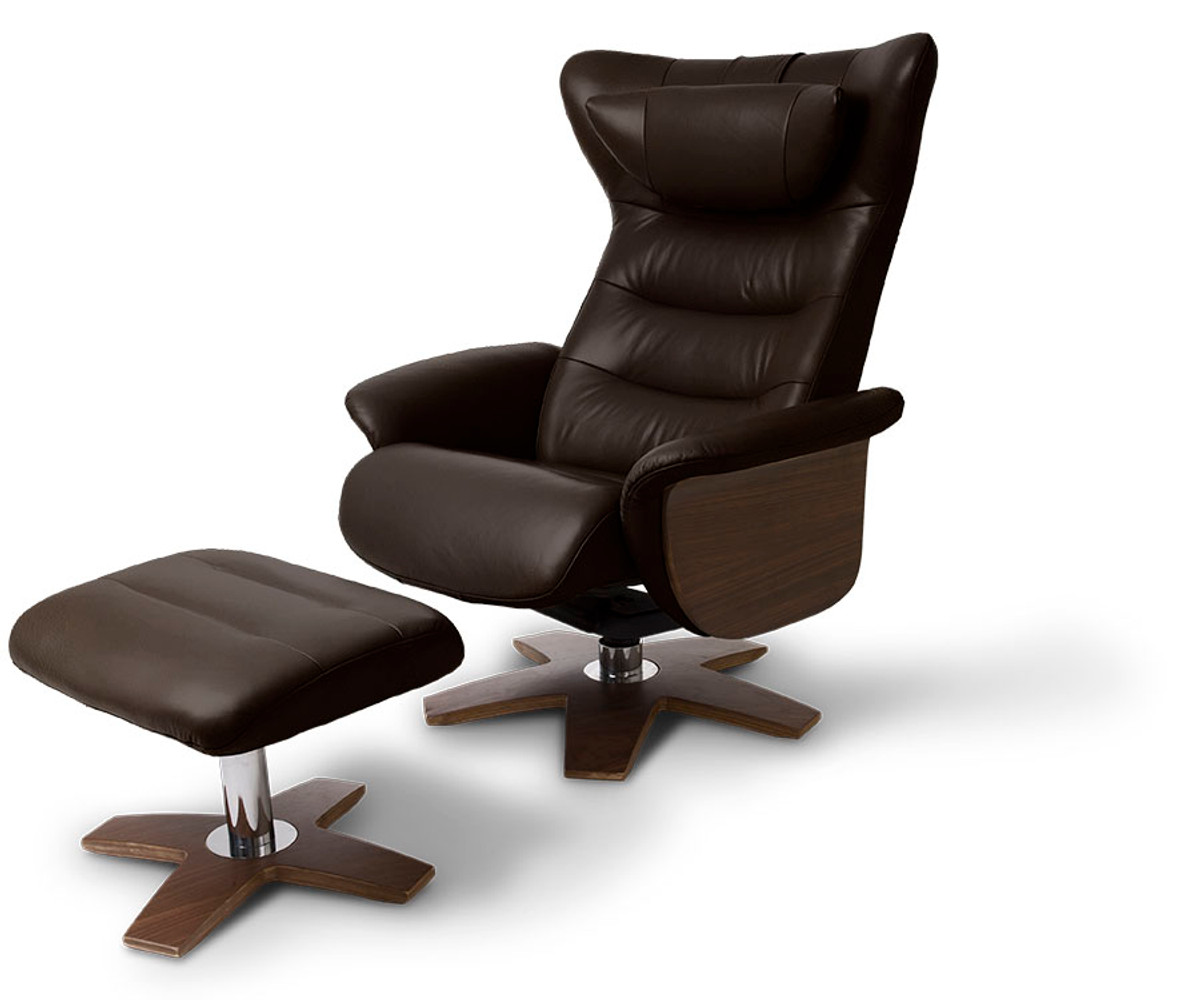 Please note Recliner is supplied with  O  base.  sc 1 st  Poynters & Zedere Verra full leather recliner chair with footrest islam-shia.org