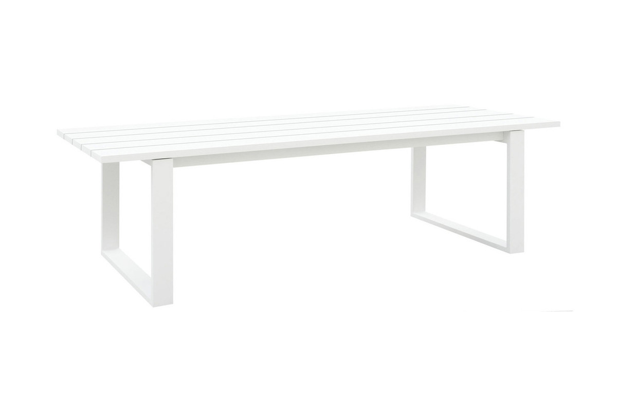 ... Fermo Outdoor Dining Table 270x102 Aluminium   White Or Charcoal