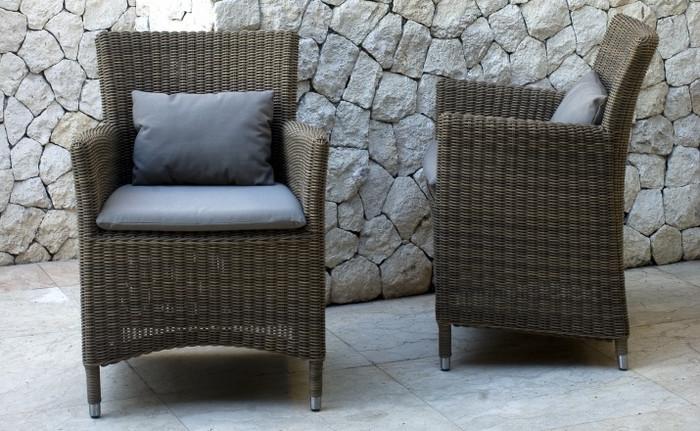 Hawaii outdoor armchair - 3mm cord wicker