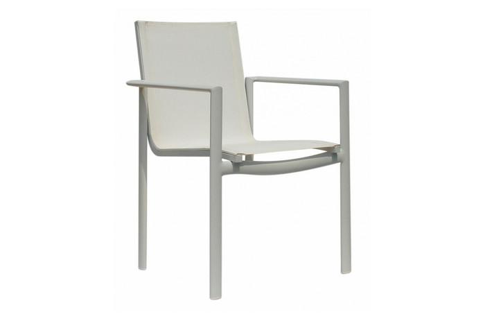 dining chair York - textilene sling - khaki - set of 6
