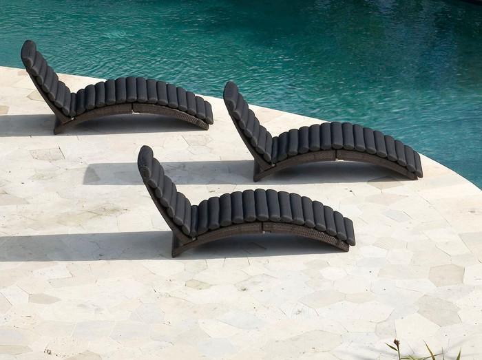 Elba folding sunlounger