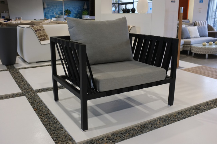 Flex outdoor sling and aluminium lounge chair - 1 left
