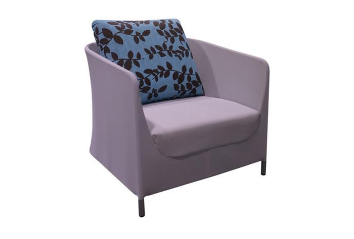Silk textilene style outdoor armchair
