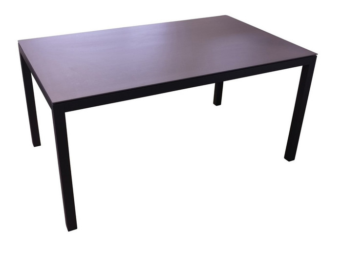 Lisbon aluminium outdoor dining table 152x100 with CERAMIC top