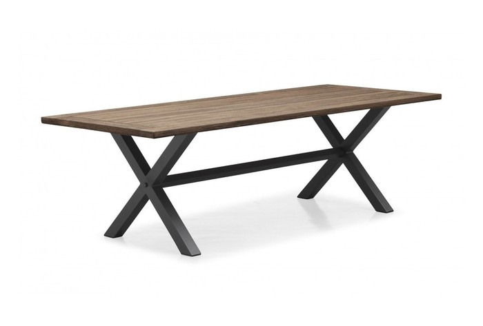 Cross outdoor dining table 240x100 teak