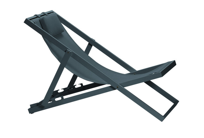 Xanthus outdoor folding deck chair i - various colours