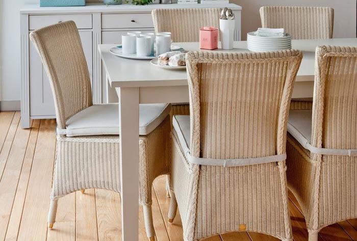 Mary dining chair - Lloyd Loom grey mastic