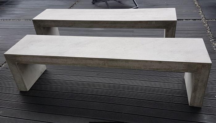 lightweight fiber concrete bench