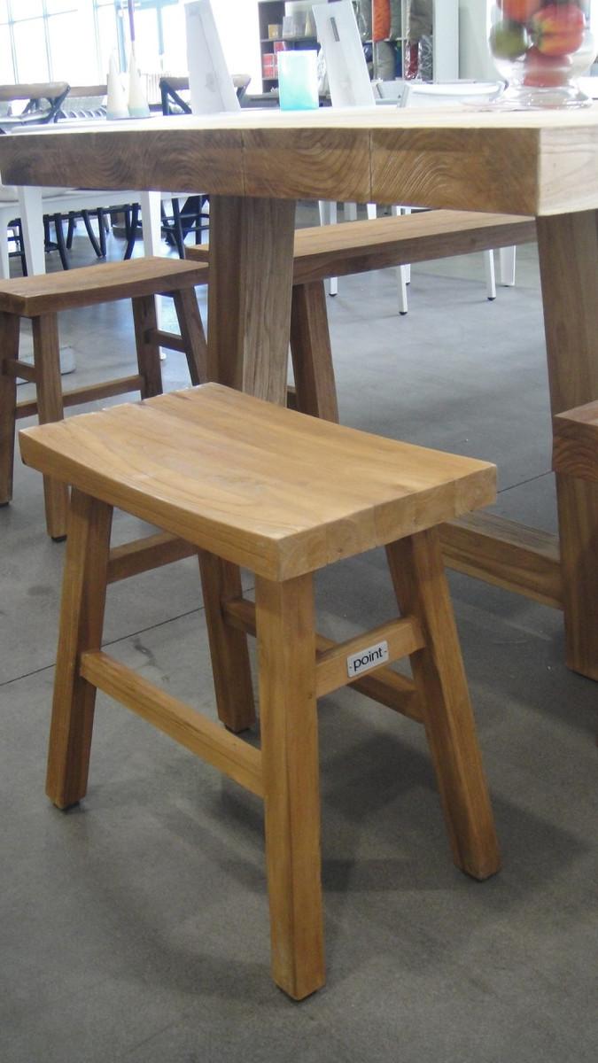 Bangku aged teak outdoor stool