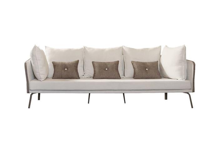 Milo outdoor fabric sofa by Talenti