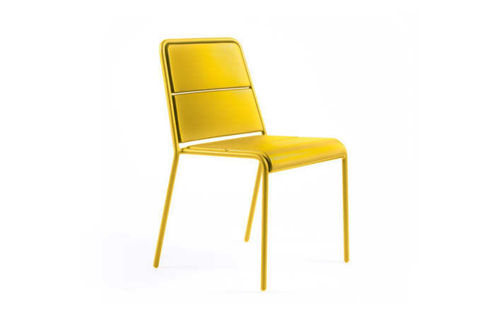 Maiori A600 outdoor aluminium side chair - yellow