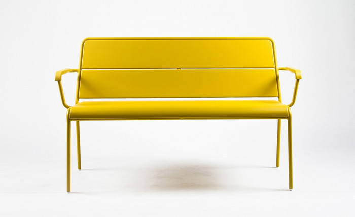 Maiori A600 outdoor aluminium bench - various colours