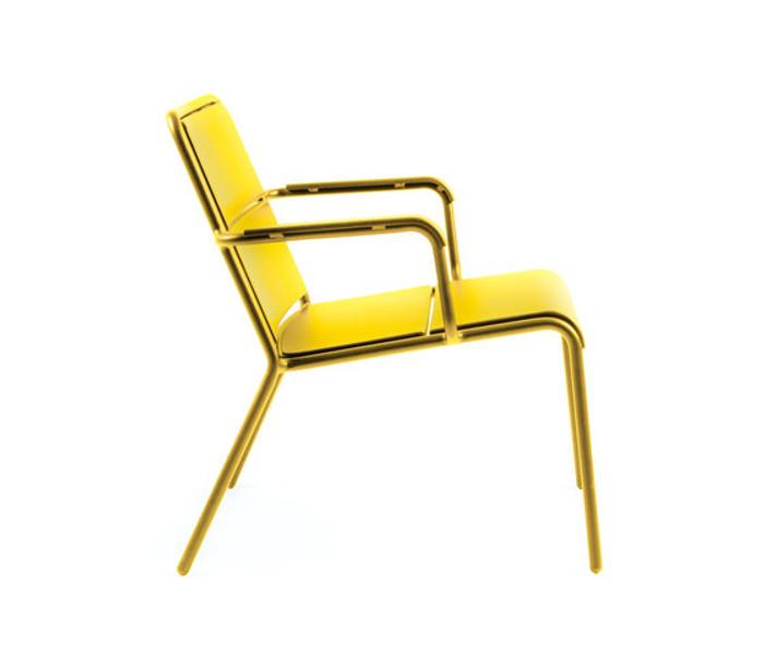 Maiori A600 outdoor aluminium low arm chair - various colours