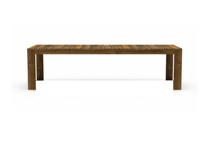 Kona reclaimed teak outdoor table - 280x100