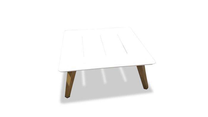 Ponza outdoor aluminium coffee table 74x74