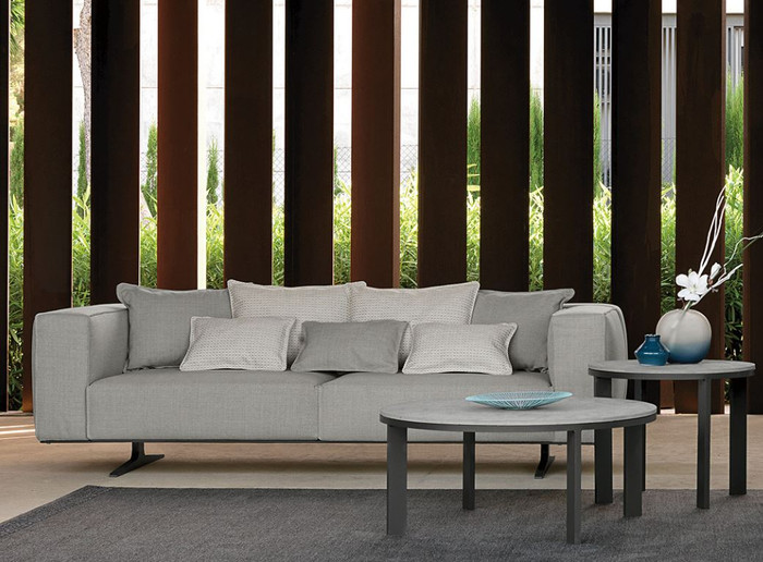 Eden outdoor aluminium framed fabric sofa by Talenti