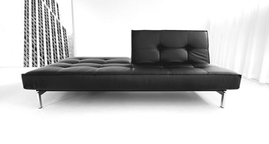 Splitback sofa bed (chrome frame) by Innovation