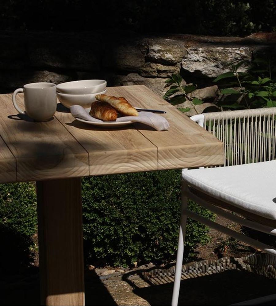 Portland Bistro Aged Teak Outdoor Table 80 X 70 X76H ...