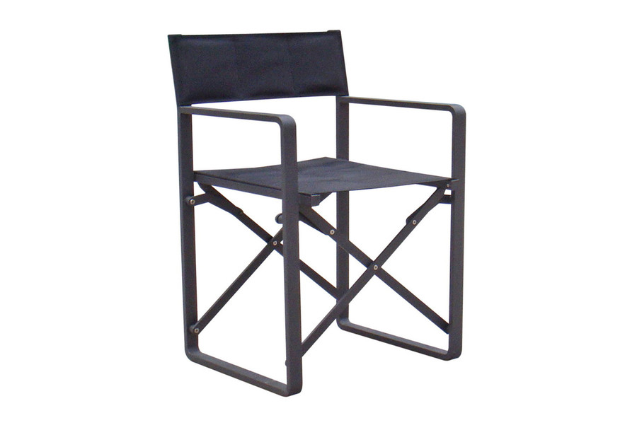 directors folding chair - white, coffee and black