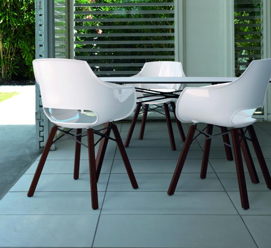 shown with Wox Opal outdoor chairs