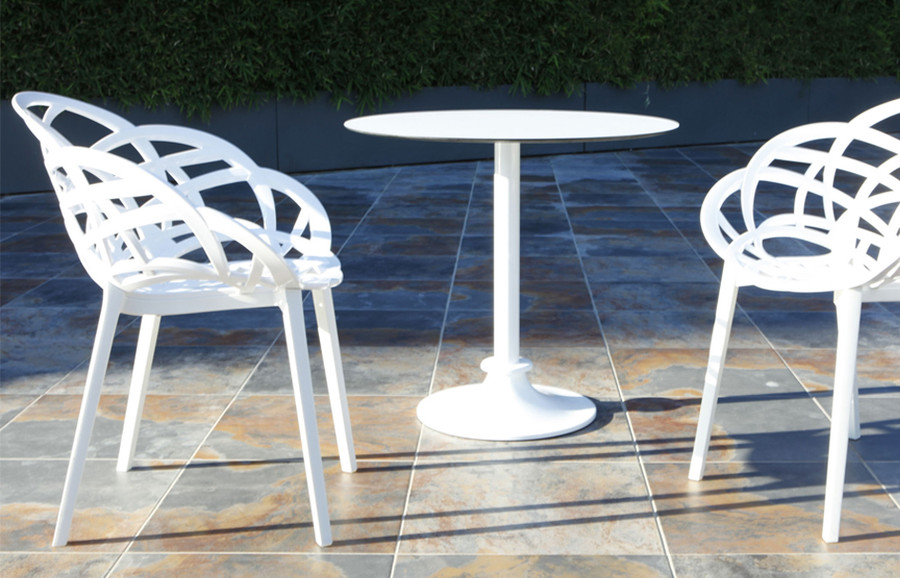 shown with Flora chairs