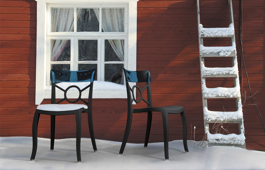 Opera S outdoor plastic side chair - various colours