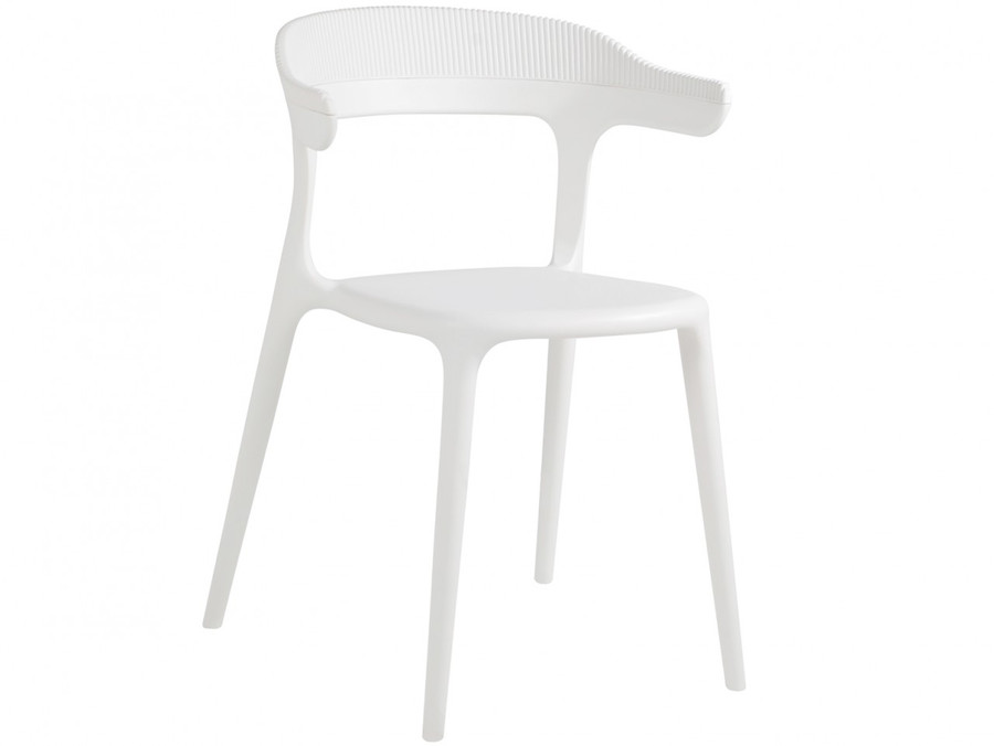 Luna Stripe outdoor plastic chair - various colours