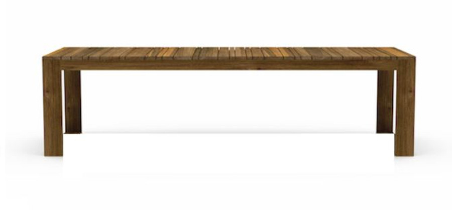 Kona reclaimed teak outdoor table - 280x100