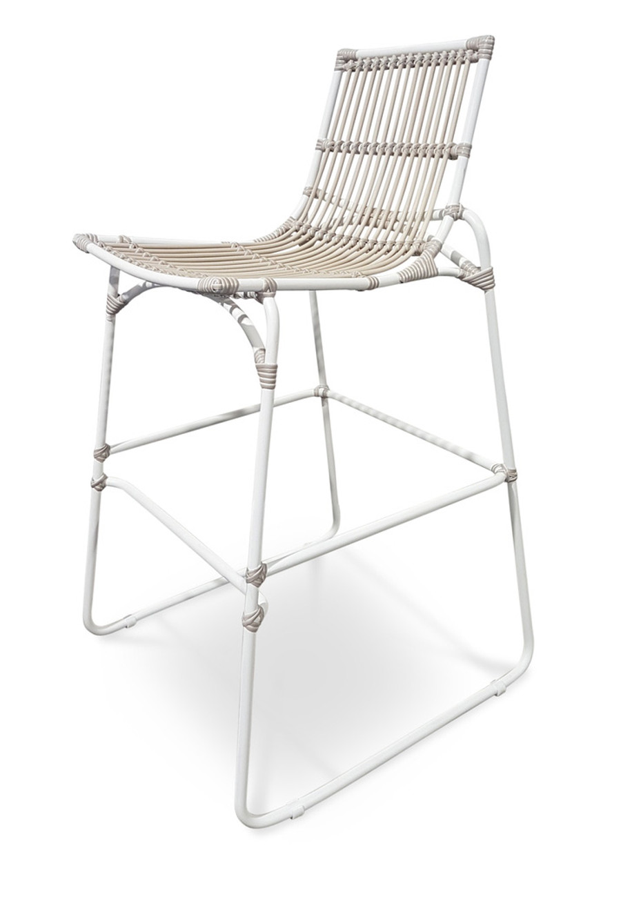 Balize outdoor bar stool / chair in synthetic cord