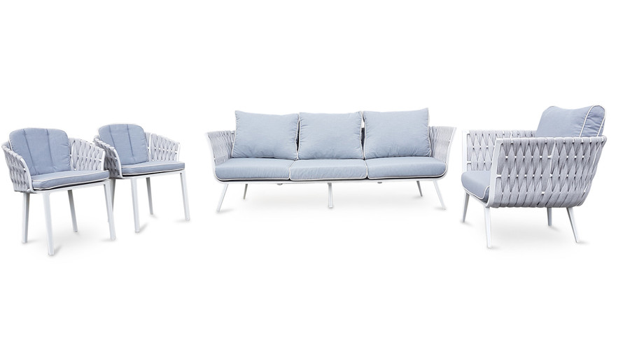 Set showing sofa, lounge chair and dining / sitting chairs