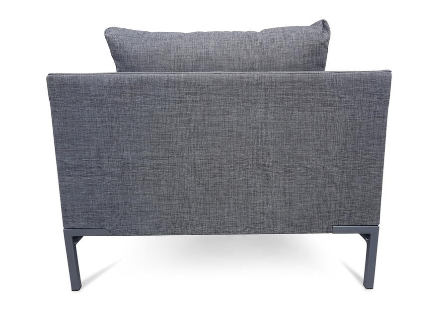 Petra outdoor lounge chair - Nanotex Charcoal
