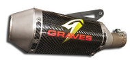 Graves Motorsports Yamaha R1 FZ-10 MT-10 Cat Back Slip-On Exhaust Carbon