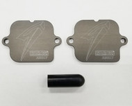 Graves Motorsports Smog Block Off Plates for Honda CBR model Sport Bikes