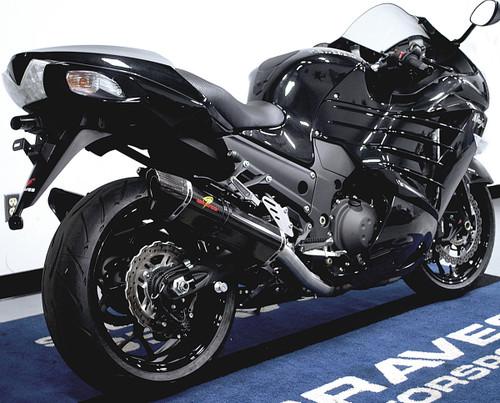 Graves Motorsports Kawasaki ZX14R Carbon Fiber Cat Back Slip-on Exhaust