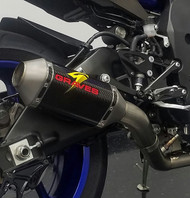 Graves Motorsports Yamaha R1 Full Titanium Exhaust System with Carbon 200mm Silencer