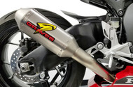 Honda CBR1000rr Cat Back Slip-on Exhaust 2017