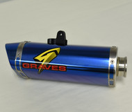 Yamaha R6  Titanium EleckTricK bLUE Cat-Back Slip-on Exhaust