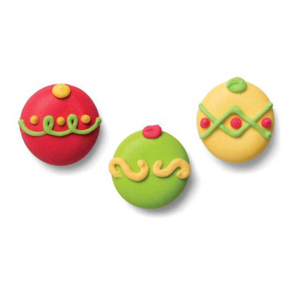 Holiday Ornaments Crème Filled Sandwich Cookies, Milk Chocolate