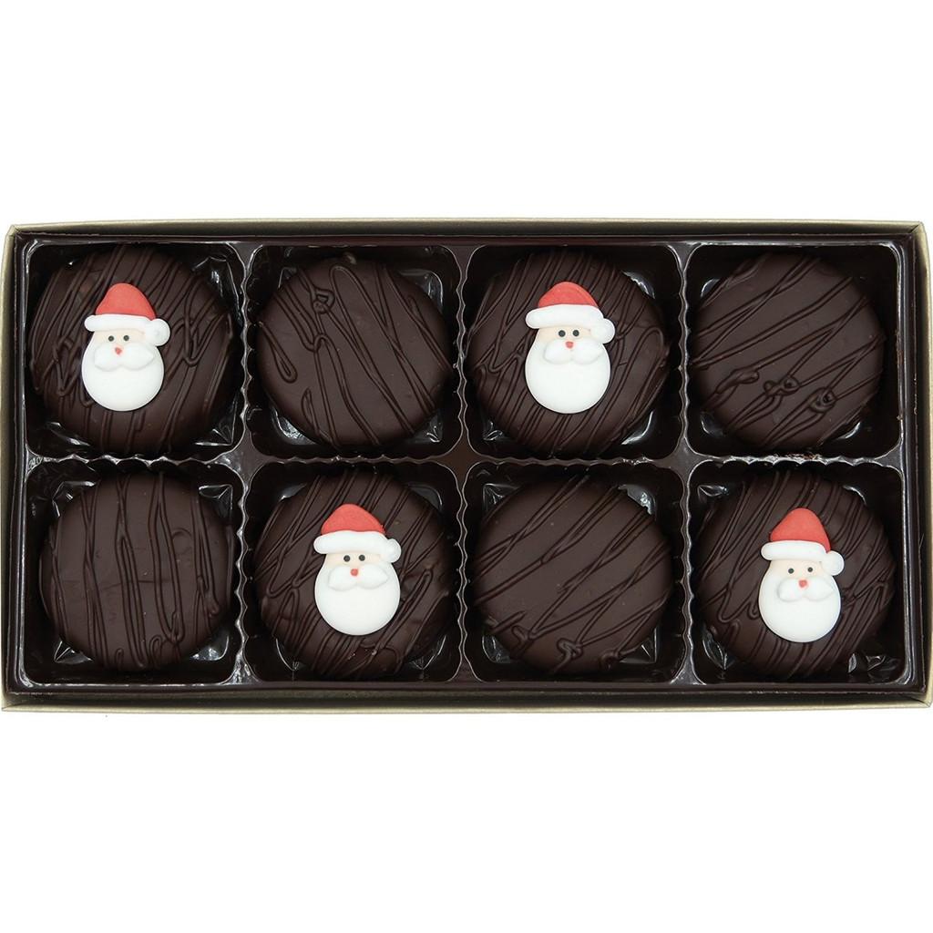 Santa Face Crème Filled Sandwich Cookies, Dark Chocolate