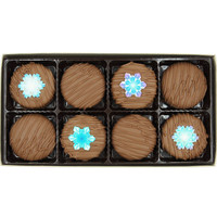 Winter Snowflake Crème Filled Sandwich Cookies, Milk Chocolate