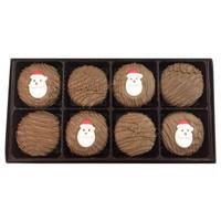 Santa Face Crème Filled Sandwich Cookies, Milk Chocolate