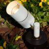 Cast Brass Side Arm Spotlight PSDX613 (in scene) Shown In White