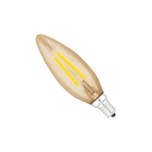 120V LED Amber Torpedo Dimmable Candelabra Light Bulb 41144