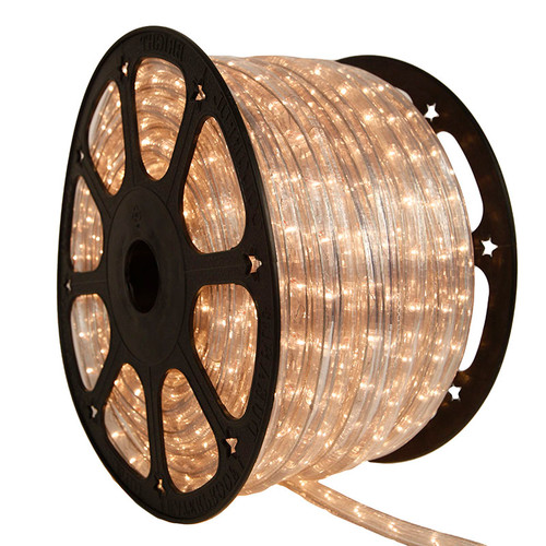"120V 2 Wire Incandescent Clear 3/8"" Rope Light - 150 Ft"